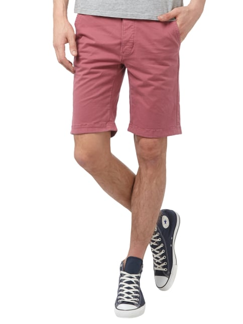 Colours & Sons Chinoshorts mit Knopfleiste Rot - 1