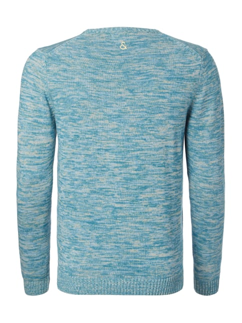 Colours & Sons Pullover in Melangeoptik Aqua Blau - 1