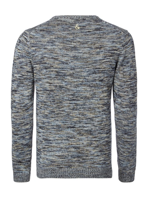 Colours & Sons Pullover in Melangeoptik Himmelblau - 1