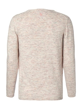 Colours & Sons Pullover in Melangeoptik Lachs - 1