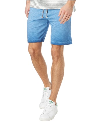 Colours & Sons Sweatshorts im Vintage Look Blau - 1
