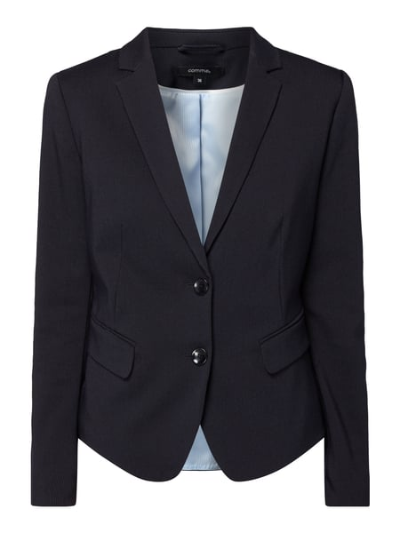 comma blazer mit webmuster in blau t rkis online kaufen 9772090 p c online shop. Black Bedroom Furniture Sets. Home Design Ideas