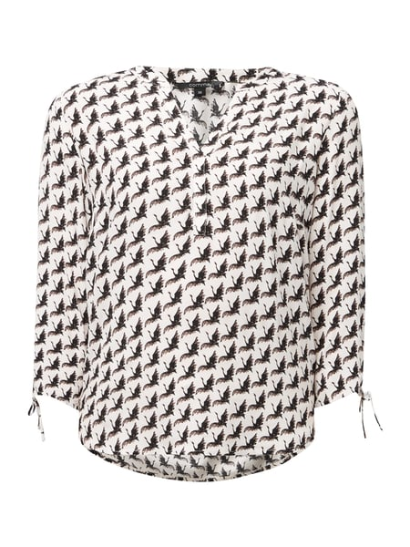 comma Blusenshirt mit Allover-Muster Offwhite