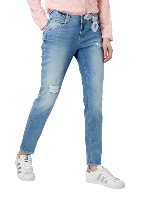 comma Casual Identity Boyfriend Fit Jeans im Destroyed Look Jeans - 1
