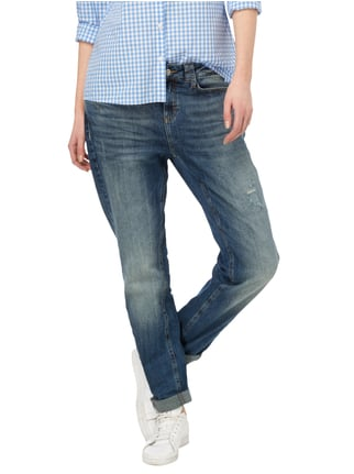 comma Casual Identity Boyfriend Fit Jeans im Used Look Jeans - 1