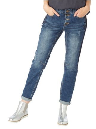 comma Casual Identity Boyfriend Jeans im Used Look Jeans - 1