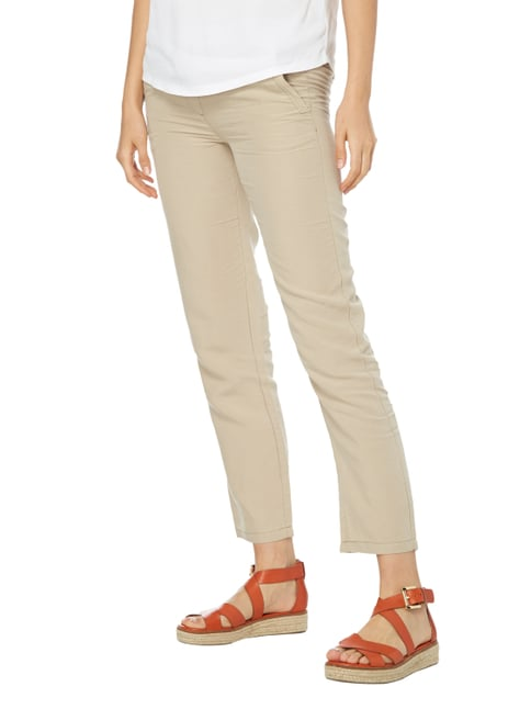 comma Casual Identity Easy Pants mit Tunnelzug Sand - 1
