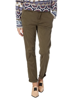 comma Casual Identity Loose Comfort Fit Chino mit Stretch-Anteil Olivgrün - 1