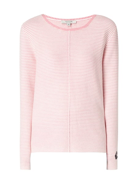 comma Casual Identity Pullover mit Streifenmuster Pink