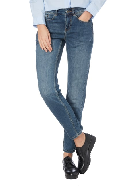 comma Casual Identity Stone Washed Boyfriend Fit 5-Pocket-Jeans Blau - 1