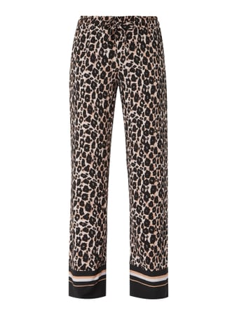 comma Easy Pants mit Leopardenmuster Schwarz - 1