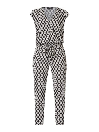 eb36efbc771408 comma Jumpsuit in Wickel-Optik Grau   Schwarz - 1 ...
