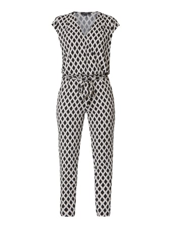 comma Jumpsuit in Wickel-Optik Schwarz - 1