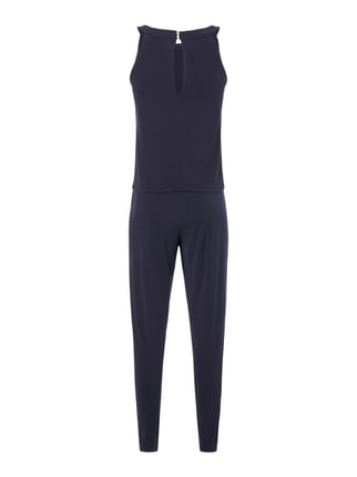 comma Jumpsuit mit locker fallendem Oberteil Marineblau - 1