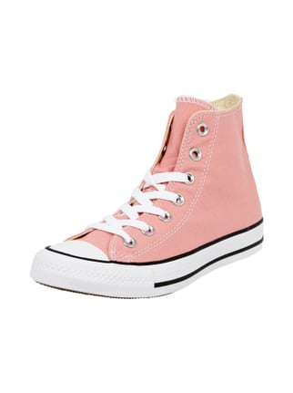 High Top Sneaker aus Canvas Rosé - 1