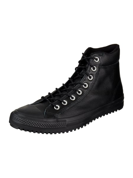 2f83c45509894 ... hot converse high top sneaker ctas boot pc aus leder grau schwarz 1  74a27 dd710