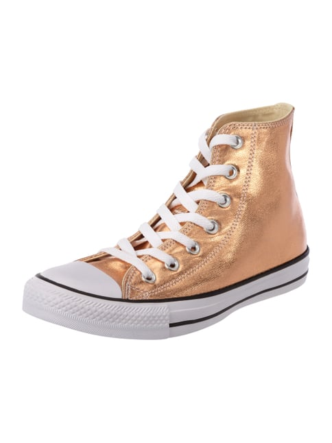 High Top Sneaker in Metallicoptik Orange - 1