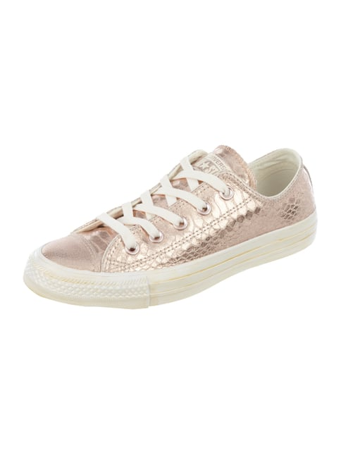 Sneaker 'All Star' aus Leder in Metallicoptik Rosé - 1