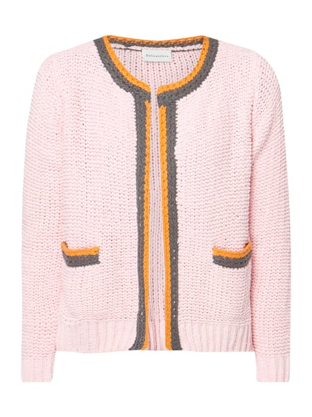 Delicate Love Cardigan aus Grobstrick Rosa