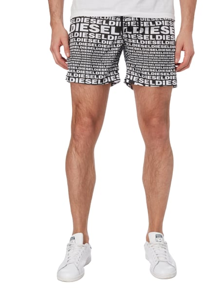 diesel badeshorts mit logo muster in grau schwarz online kaufen 9590891 p c online shop. Black Bedroom Furniture Sets. Home Design Ideas