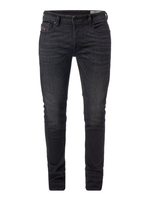 Coloured Slim-Skinny Fit 5-Pocket-Jeans Grau / Schwarz - 1