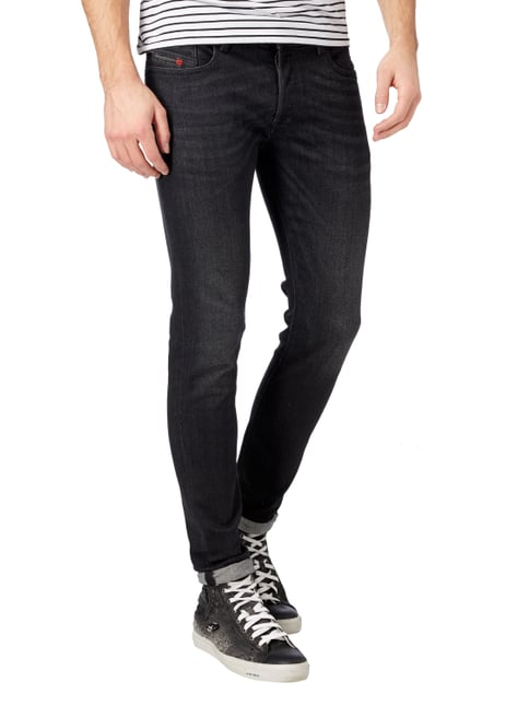 Diesel Coloured Slim-Skinny Fit 5-Pocket-Jeans Mittelgrau - 1