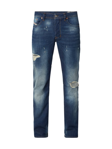 Diesel Regular-Straight Fit Jeans im Destroyed Look Blau - 1