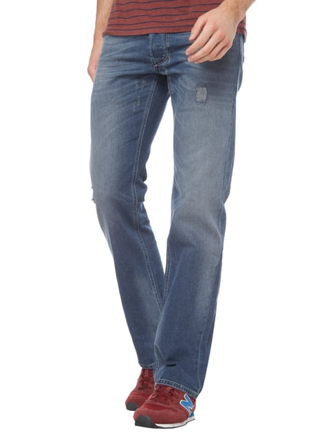 Diesel Regular Straight Fit Jeans im Used Look Jeans - 1