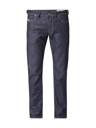 Regular-Tapered Fit Jeans im Used Look Blau / Türkis - 1