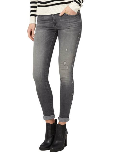 Diesel Skinny Fit Jeans im Destroyed Look Jeans - 1
