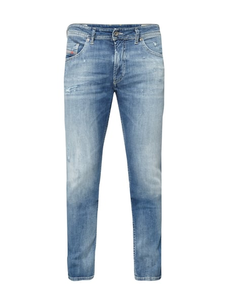 1375fbe4f8b8d3 DIESEL Slim-Skinny Fit Jeans im Heavy Used Look in Blau   Türkis ...