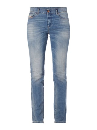 Stone Washed Regular Straight Fit 5-Pocket-Jeans Blau / Türkis - 1