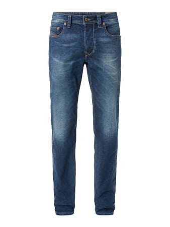 Stone Washed Regular-Tapered Fit Jeans Blau / Türkis - 1