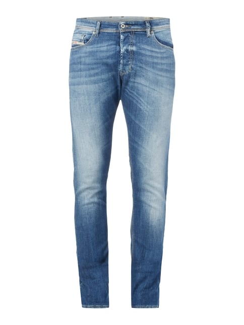 Stone Washed Slim-Carrot Fit Jeans Blau / Türkis - 1