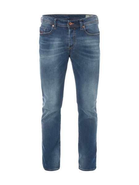 Diesel Buster 84ns - Stone Washed Slim-Tapered Fit Jeans Jeans