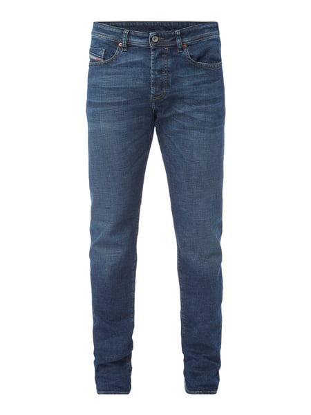 Diesel Buster 84nl - Stone Washed Slim-Tapered Fit Jeans Jeans