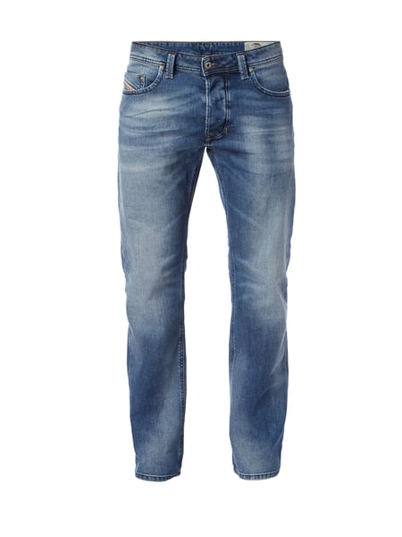 Diesel Stone Washed Straight Fit 5-Pocket-Jeans Blau - 1