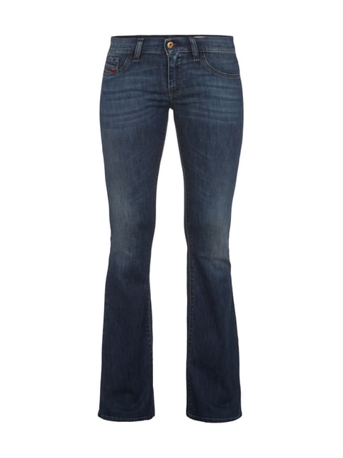 Super Slim-Flare Fit 5-Pocket-Jeans Blau / Türkis - 1