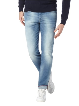 Diesel Tapered Fit Jeans im Destroyed Look Jeans meliert - 1