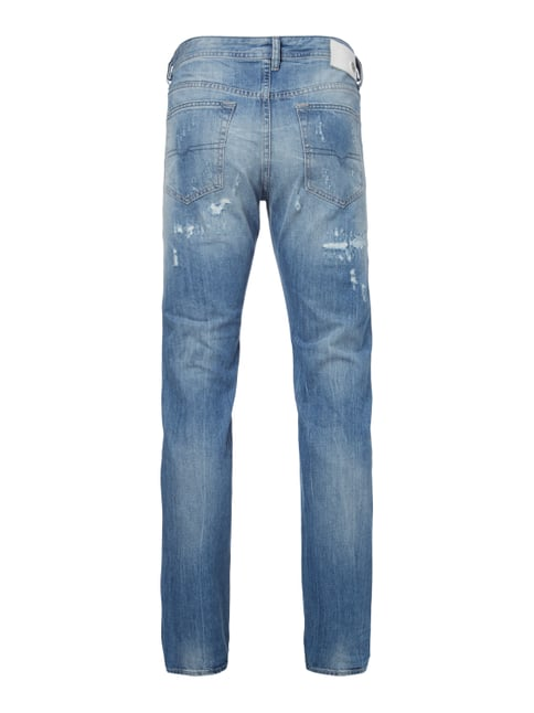 Diesel Tapered Fit Jeans im Destroyed Look Jeans - 1
