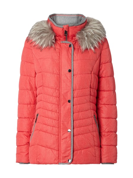 the latest 516e1 c4eaa DISTRICT Steppjacke mit abnehmbarem Webpelz in Rot online ...