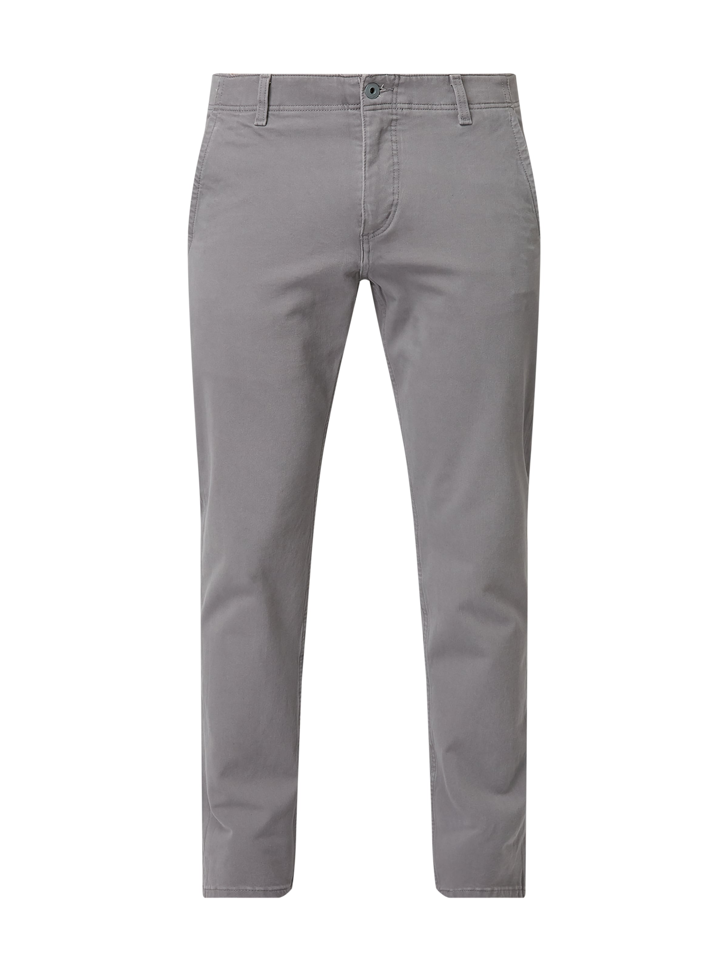 DOCKERS Slim tapered fit chino met stretch Antraciet