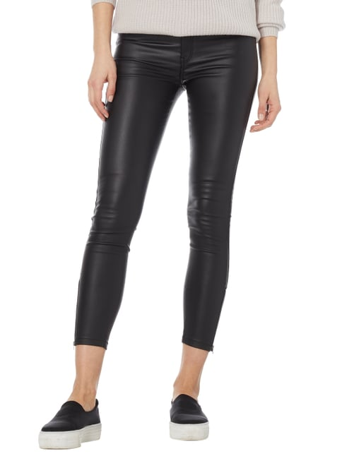 Dr. Denim Coated Super Skinny Fit Jeggings Schwarz - 1