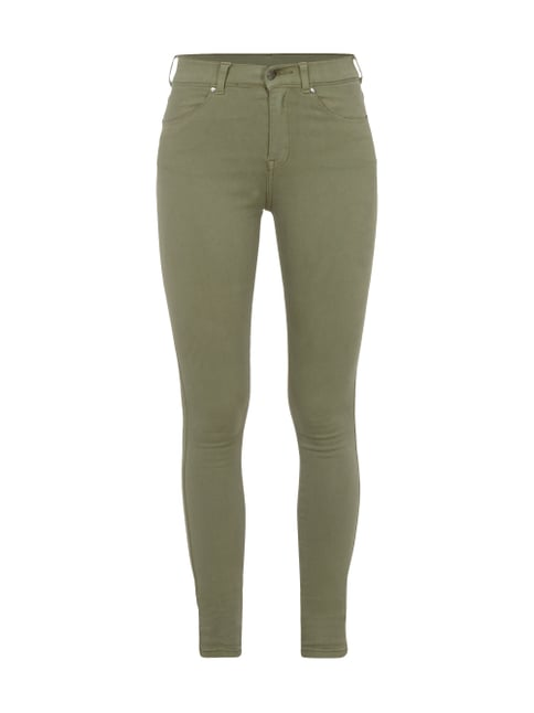 Coloured High Waist Second Skin Fit Jeans Grün - 1