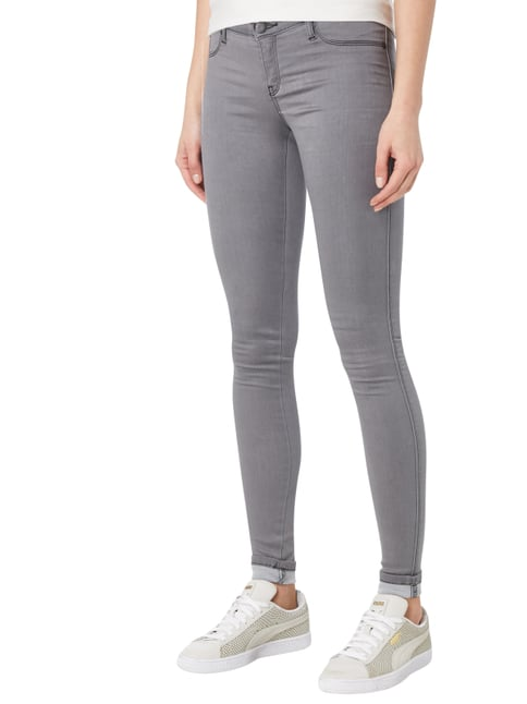 Dr. Denim Coloured Jeggings mit Gesäßtaschen Mittelgrau - 1