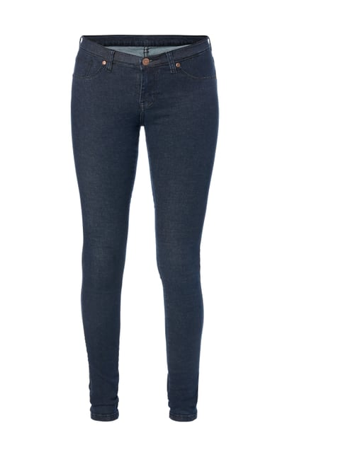 Coloured Second Skin Fit High Waist Jeans Blau / Türkis - 1