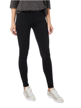 Dr. Denim Coloured Second Skin Fit High Waist Jeans Schwarz - 1