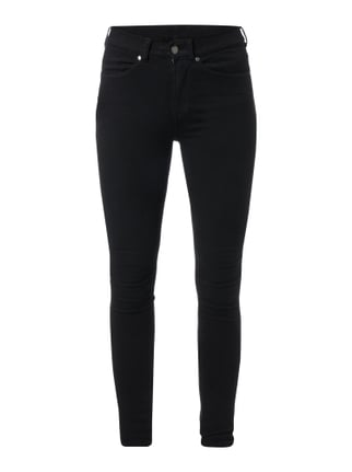 Coloured Second Skin Fit High Waist Jeans Grau / Schwarz - 1