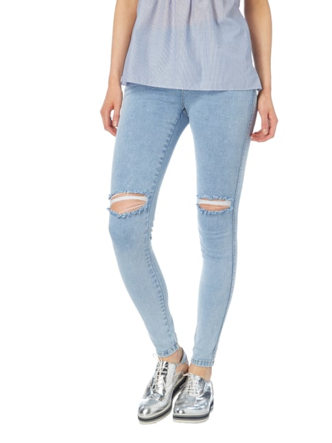 Dr. Denim Second Skin Fit Jeans mit Destroyed-Effekten Hellblau - 1