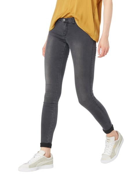 Dr. Denim Second Skin Fit Jeggings im Washed Out Look Mittelgrau - 1